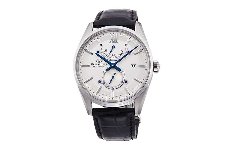 ORIENT STAR: Mechanical Contemporary Watch, Leather Strap - 40.0mm (RE-HK0005S)