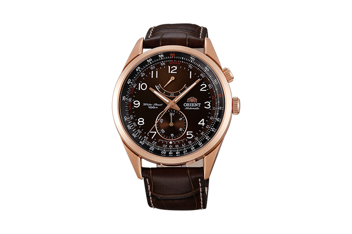 ORIENT: Mechanical Sporty Watch, Leather Strap - 43.0mm (FM03003T)