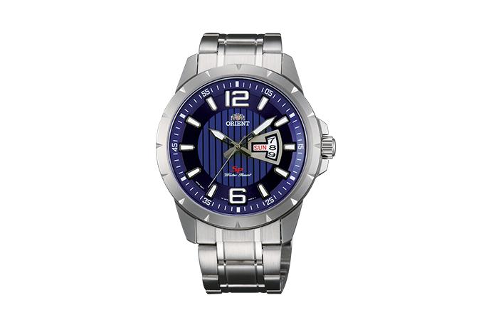 Orient: Cuarzo Sports Reloj, Metal Correa - 43.0mm (UG1X004D)