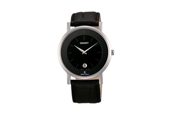 Orient: Cuarzo Clásico Reloj, Cuero Correa - 38.0mm (GW01009B)