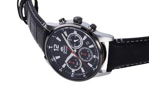ORIENT: Cuarzo Sports Reloj, Cuero Correa - 42.0mm (RA-KV0005B)