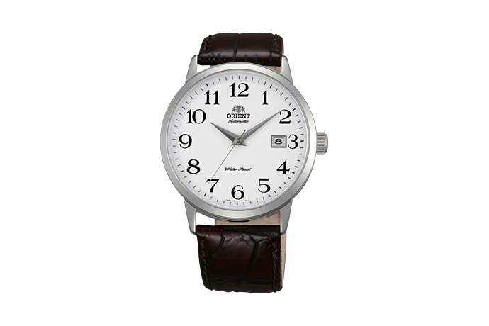 ORIENT: Mechanisch Modern Uhr, Leder Band - 41.0mm (ER27008W)