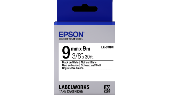 Epson LabelWorks Clear Tape Cartridge Black on Clear 1//2 Inch 30 Feet LC 4TBN9