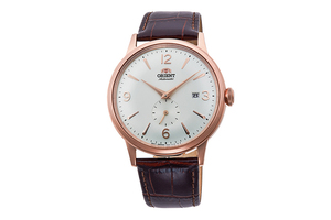 ORIENT: Mechanical Classic Watch, Leather Strap - 40.5mm (RA-AP0001S)