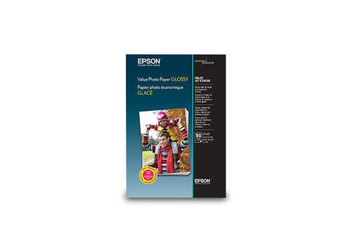 "Value Photo Paper Glossy, 4"" x 6"", 50 sheets"