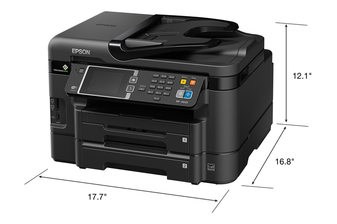 Terrific Epson Workforce Wf 3640 All In One Printer Inkjet Beutiful Home Inspiration Papxelindsey Bellcom