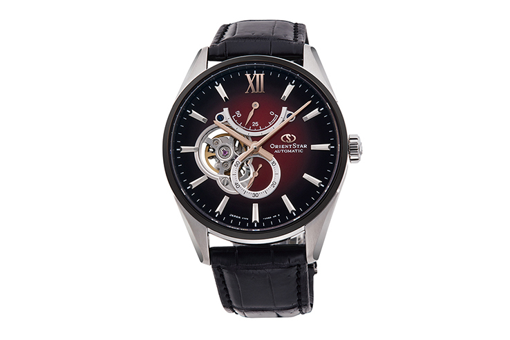 ORIENT STAR: Mechanical Contemporary Watch, Leather Strap - 41.0mm (RE-HJ0004R)