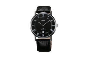 Orient: Cuarzo Clásico Reloj, Cuero Correa - 38.0mm (GW0100DB)