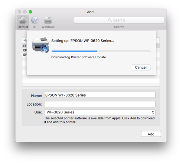 Apple Software Updater in macOS | Epson Singapore