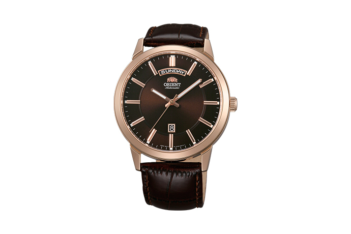 ORIENT: Mechanisch Modern Uhr, Leder Band - 42.0mm (EV0U002T)