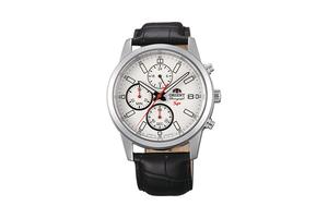 Orient: Cuarzo Sports Reloj, Cuero Correa - 42.0mm (KU00006W)