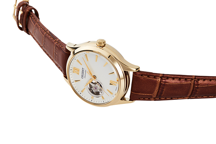 ORIENT: Mechanical Contemporary Watch, Leather Strap - 35.6mm (RA-AG0024S)
