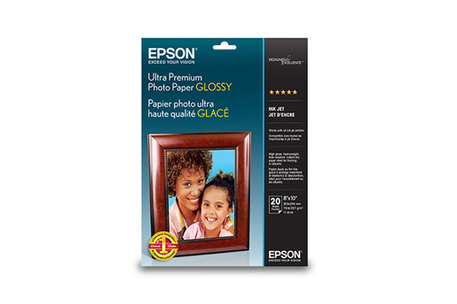 "Ultra Premium Photo Paper Glossy, 8"" x 10"", 20 sheets"