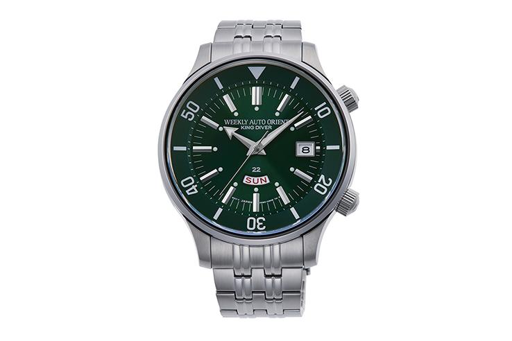 ORIENT: Zegarek mechaniczny Revival, metalowa bransoleta – 43,8 mm (RA-AA0D03E)