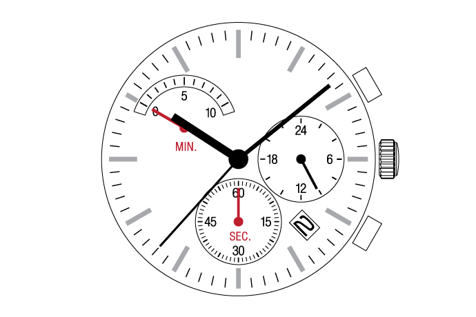 MUSCLE MOVEMENT  Chronograph  VR3G