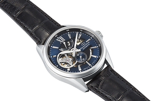 ORIENT STAR: Mechanical Contemporary Watch, Leather Strap - 41.0mm (RE-AV0005L)