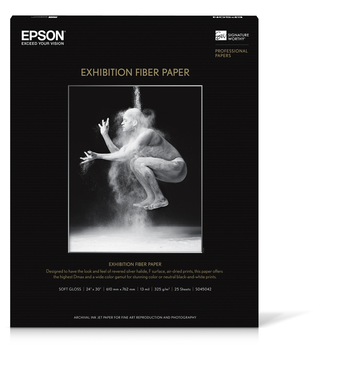 "Exhibition Fiber Paper, 24""x30"", 25 sheets"