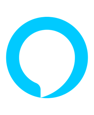 Amazon Alexa logo showing a turquoise circle with a white chat bubble inside