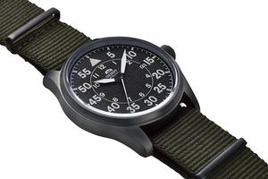 ORIENT: Mechanical Sports Watch, Nylon Strap - 42.4mm (RA-AC0H02N)