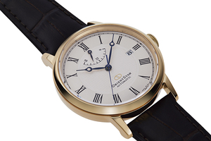 ORIENT STAR: Mechanical Classic Watch, Leather Strap - 38.7mm (RE-AU0001S)