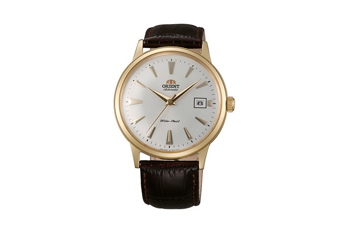ORIENT: Mechanical Classic Watch, Leather Strap - 40.5mm (AC00003W)