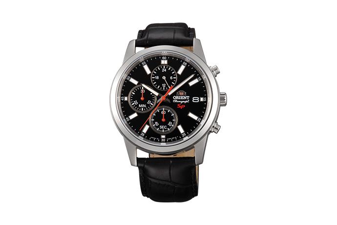 Orient: Cuarzo Sports Reloj, Cuero Correa - 42.0mm (KU00004B)