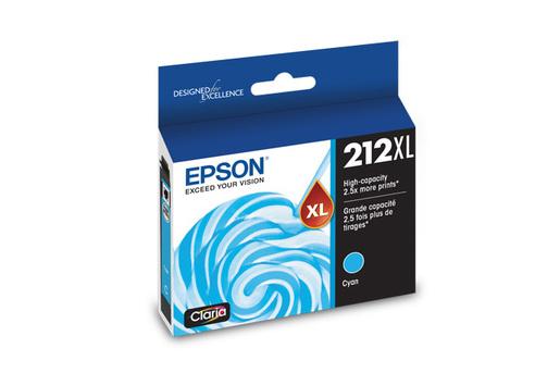 Epson 212XL, Cyan Ink Cartridge, High-Capacity