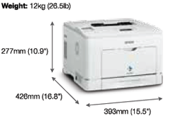 Epson WorkForce AL-M300DN Mono Laser Printer