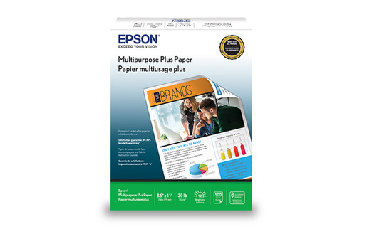 "Multipurpose Plus Paper, 8.5"" x 11"", 500 sheets"