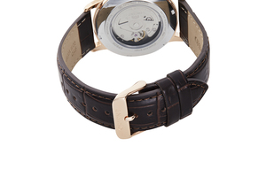ORIENT: Mechanical Contemporary Watch, Leather Strap - 41.6mm (RA-AC0F03B)