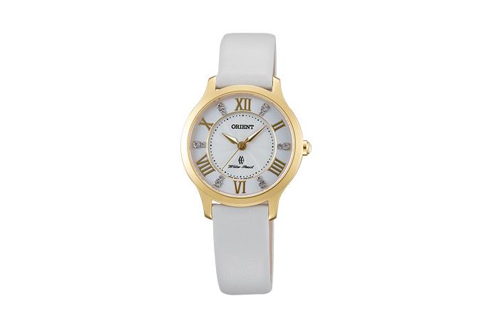 Orient: Cuarzo Contemporary Reloj, Cuero Correa - 30.5mm (UB9B003W)