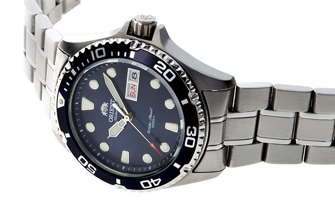 ORIENT: Mechanical Sports Watch, Metal Strap - 41.5mm (AA02005D)