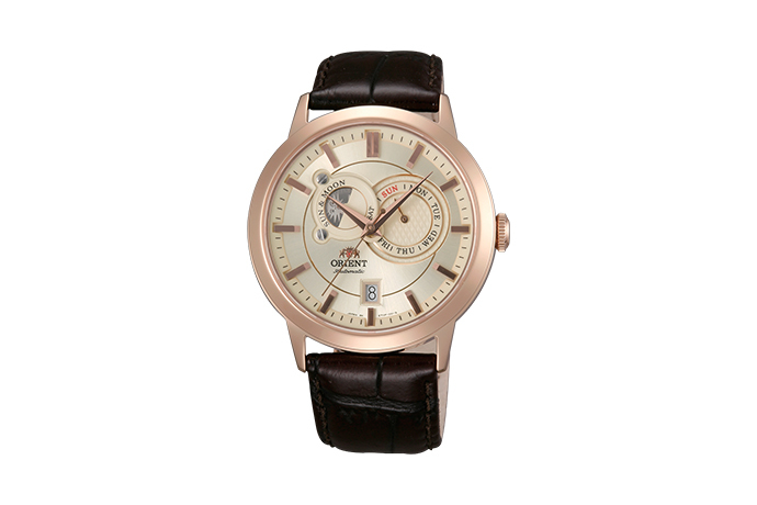 ORIENT: Mechanisch Modern Uhr, Leder Band - 41.5mm (ET0P001W)