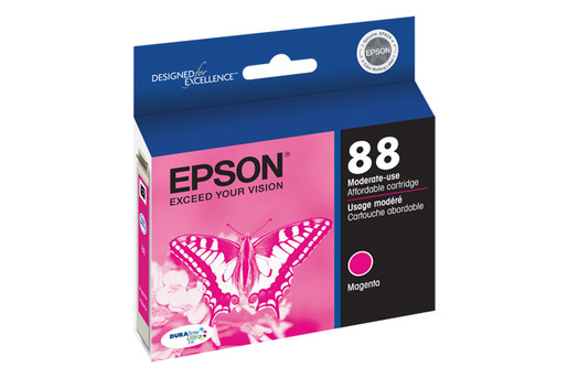 Epson 88, Magenta Ink Cartridge, Moderate Capacity