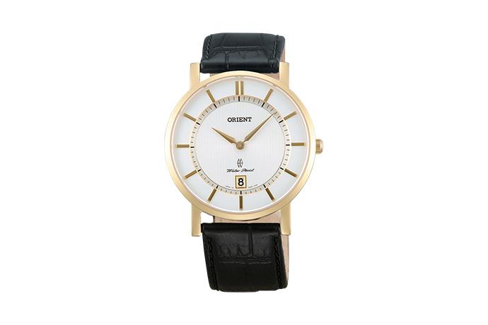 Orient: Cuarzo Contemporary Reloj, Cuero Correa - 38.0mm (GW01002W)
