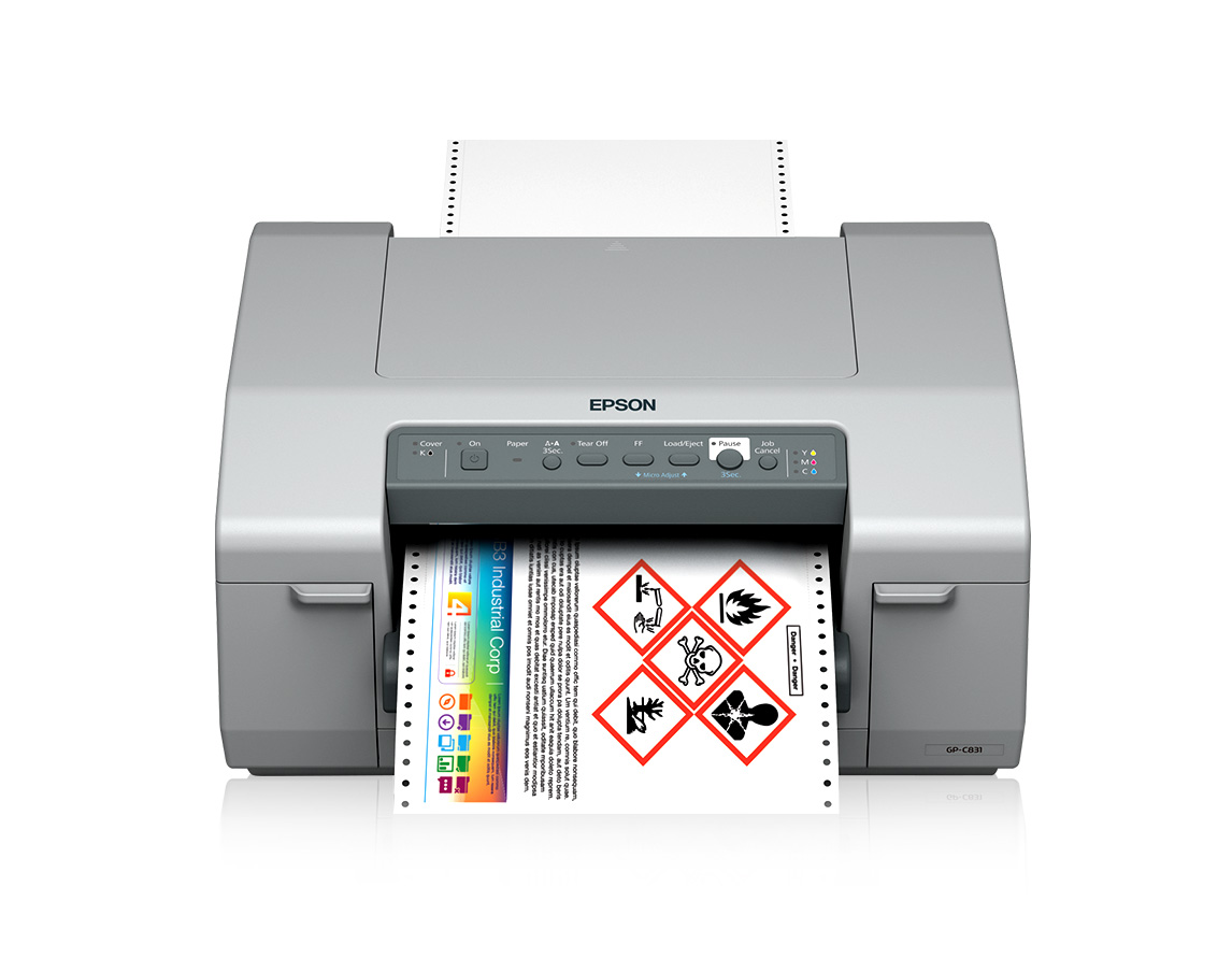 Color printer label - Colorworks C831 Wide Color Label Printer