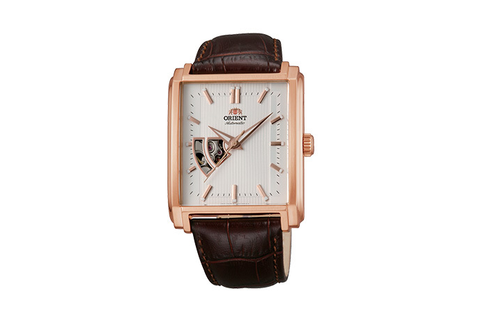 ORIENT: Mechanical Contemporary Watch, Leather Strap - 35.5mm (DBAD002W)