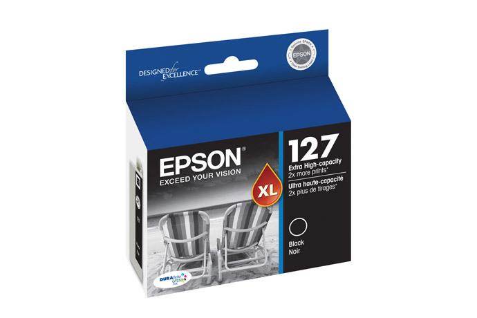 Epson 127, Black Ink Cartridge, Extra High Capacity