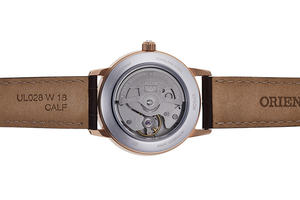 ORIENT: Mechanical Contemporary Watch, Leather Strap - 36.5mm (RA-AK0005Y)