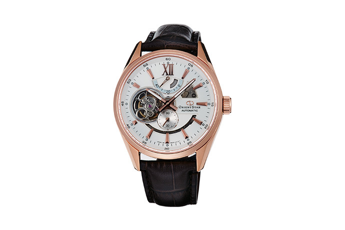 ORIENT STAR: Mechanical Contemporary Watch, Leather Strap - 41.0mm (DK05003W)