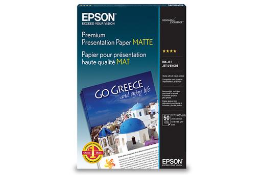 "Premium Presentation Paper Matte, 11.7"" x 16.5"", 50 hojas"