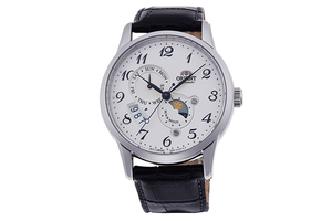 ORIENT: Mechanical Classic Watch, Leather Strap - 42.5mm (RA-AK0003S)
