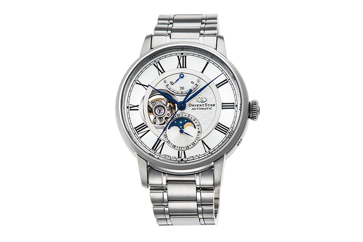 ORIENT STAR: Mecanice Clasice Ceas, Piele de crocodil Şnur - 41.0mm (RE-AM0001S)