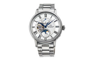 ORIENT STAR: Mechanical Classic Watch, Metal Strap - 41mm (RE-AM0005S)