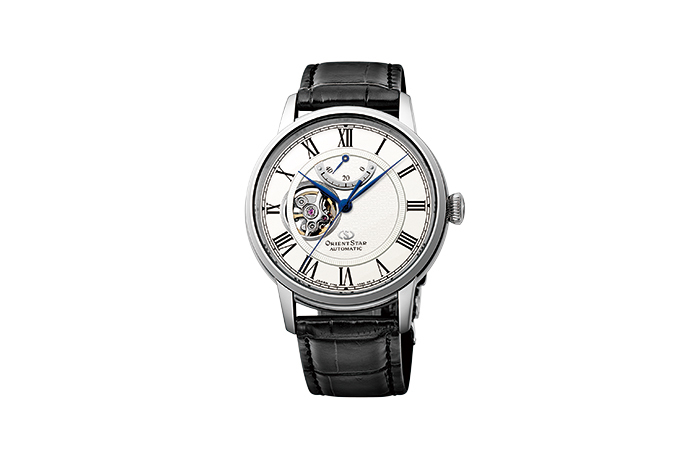 ORIENT STAR: Mechanical Classic Watch, CrocodileLeather Strap - 40mm (RE-HH0001S0)