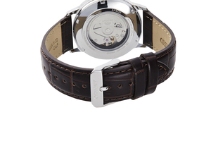 ORIENT: Mechanical Contemporary Watch, Leather Strap - 41.6mm (RA-AC0F07S)