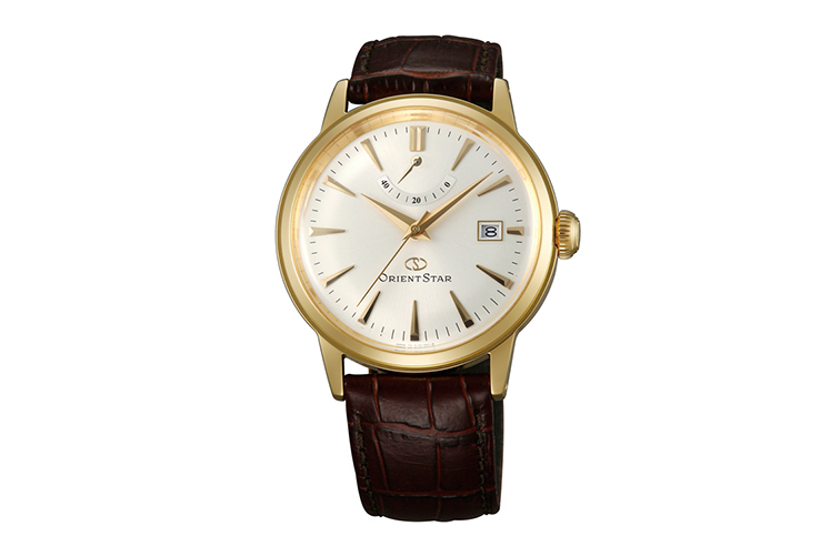ORIENT STAR: Mechanical Classic Watch, Leather Strap - 38.5mm (AF02001S)