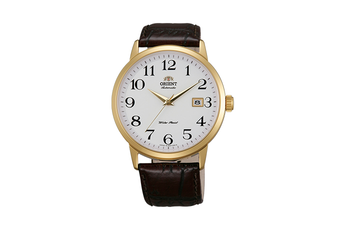ORIENT: Mechanical Contemporary Watch, Leather Strap - 41.0mm (ER27005W)