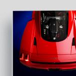 A high quality photo print of a race car