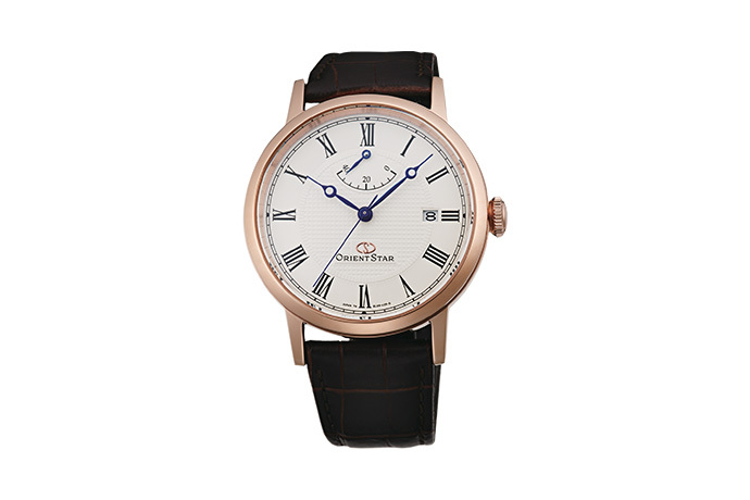 ORIENT STAR: Mechanical Classic Watch, Leather Strap - 38.7mm (EL09001W)